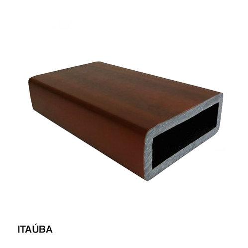 Coluna em Madeira Plástica com Metalon 153x60x3000mm.