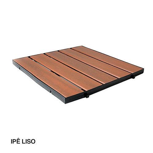 Deck em Madeira Plástica Injetado Liso 500x500mm.
