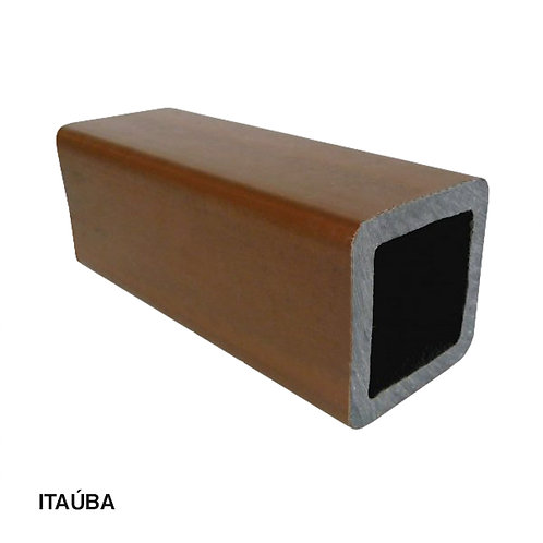 Coluna em Madeira Plástica com Metalon 90x90x3000mm.