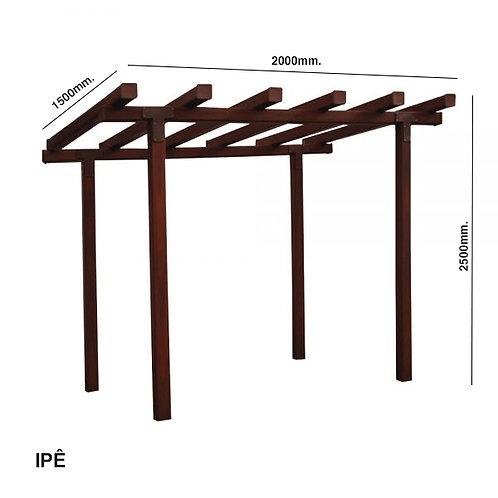 Pergolado em Madeira Plástica 200x250x150cm. | Perfil 90x90mm.