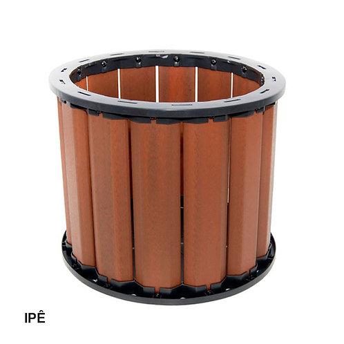 Cachepot em Madeira Plástica 500x500mm.