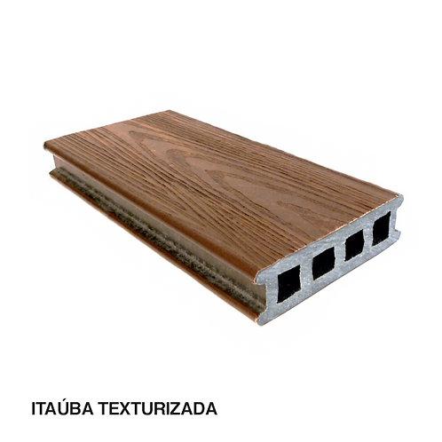 Deck em Madeira Plástica Com Textura 120x32x3000mm.