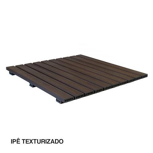 Deck Modular em Madeira Plástica Texturizada 1000x1000mm.