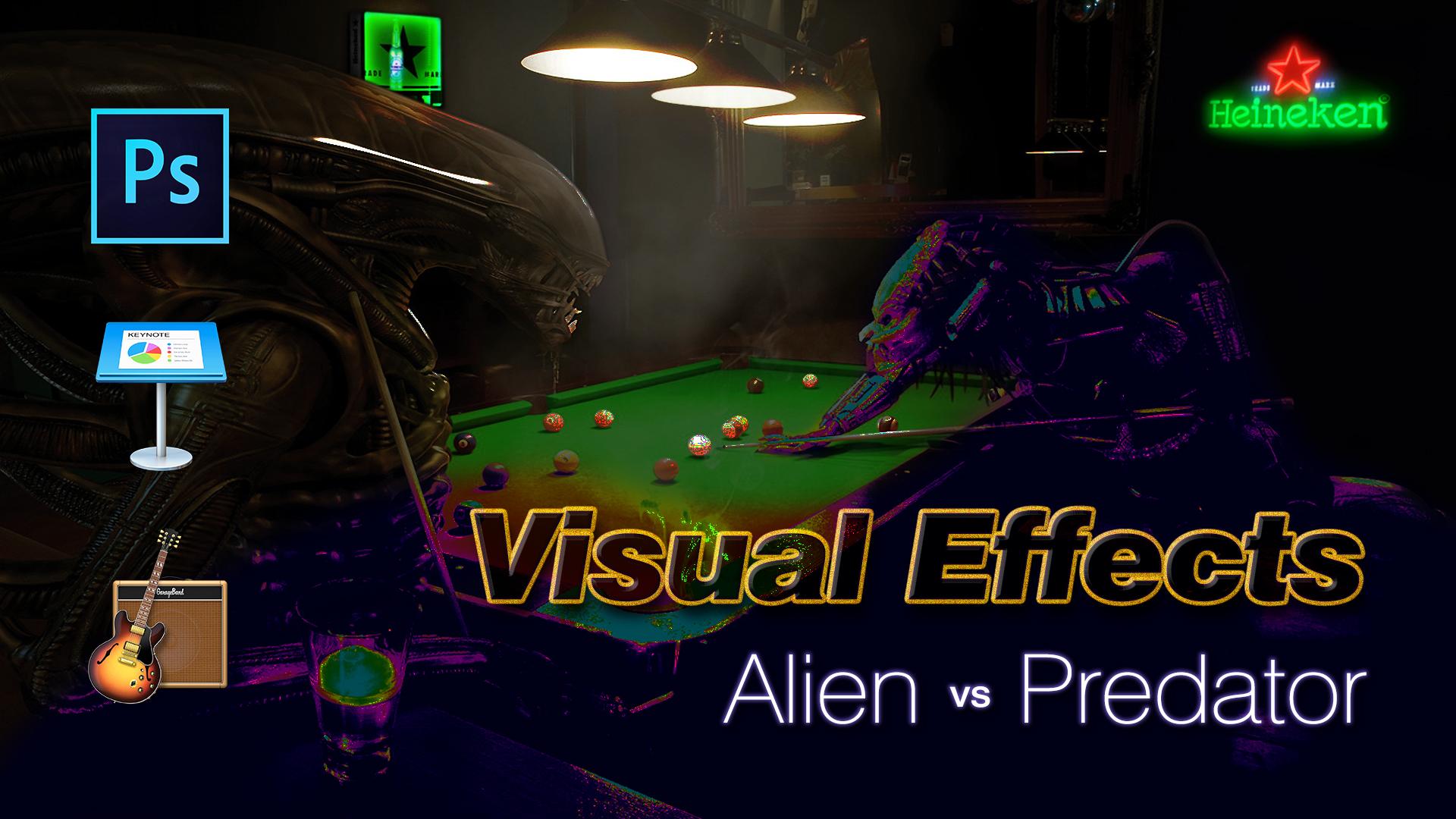 Alien Vs. Predador | Photoshop, Apple Keynote & GarageBand.