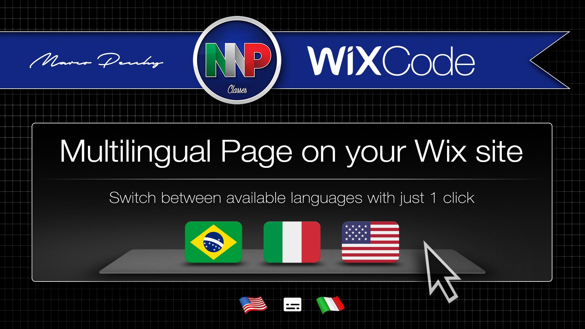 Wix Code | Páginas Multilíngue no seu site Wix