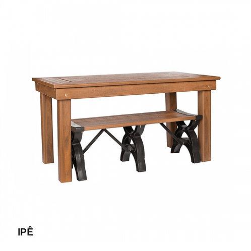 Mesa de Jantar em Madeira Plástica 150x82cm.
