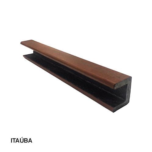 Acabamento de Borda para Deck em Madeira Plástica 40x50x3000mm.