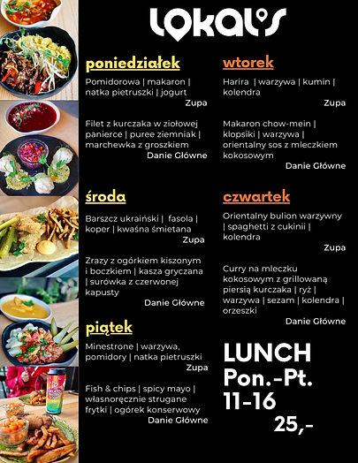Lunch | Menu Lunchowe | Lunch Bielany | Obiady Bielany | Jedzenie Lunch