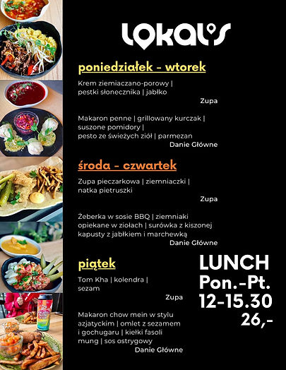 Lunch Bielany   Obiad Lokal's   Zestaw Lunchowy   Zestaw Obiadowy