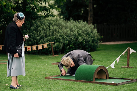 wedding mini golf crazy golf