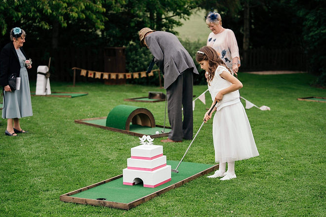 MINI GOLF HIRE, WEDDING GOLF