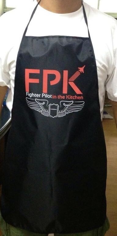 Fighter Pilot in the Kitchen Apron
