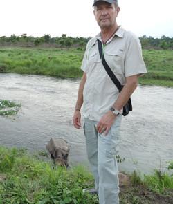 Nepal Rhino encounter