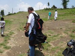 Paragliding with Moni & Babu