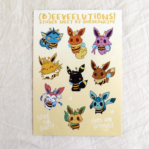 (B)eeveelutions - A5 sticker sheet