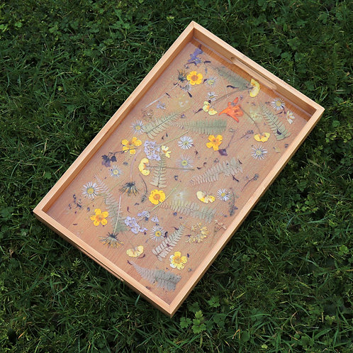 floral resin tray