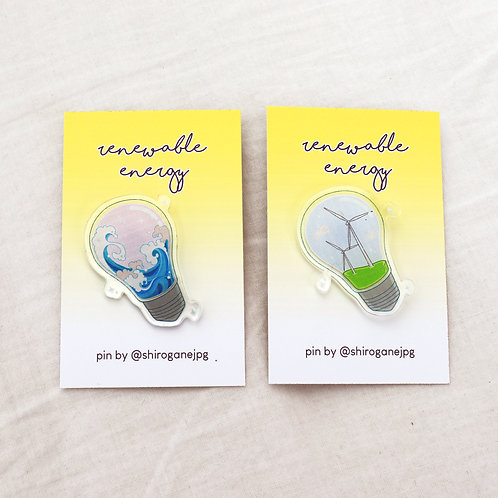 Renewable energy - acrylic badges