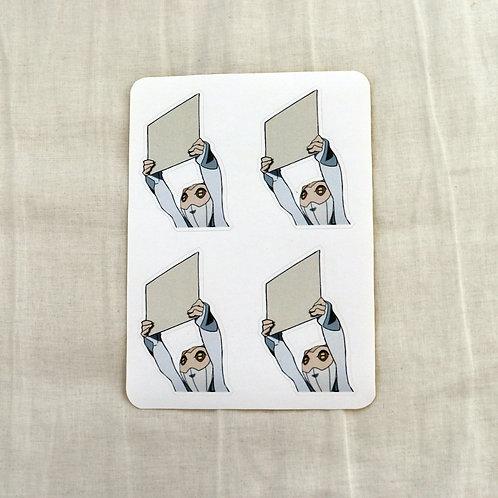 Sign Alien - memo stickers (set of 4)