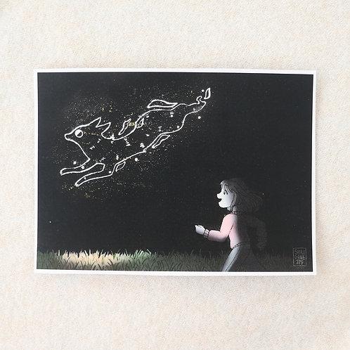 visitor - A5 art print