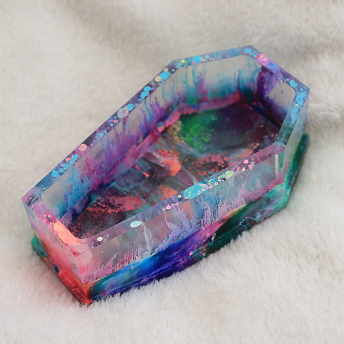 'spectrum' - coffin-shaped resin dish