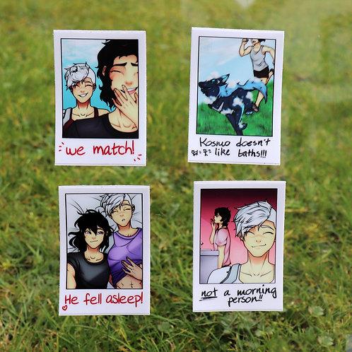"""VLD sheith - 3"""" polaroid stickers (set of 4)"""