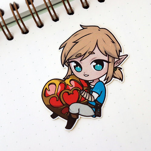 "BOTW - heart container 2"" sticker"