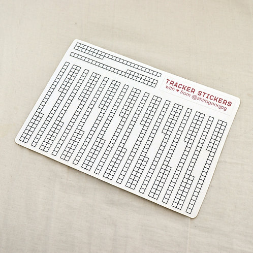 kiss cut monthly tracker stickers