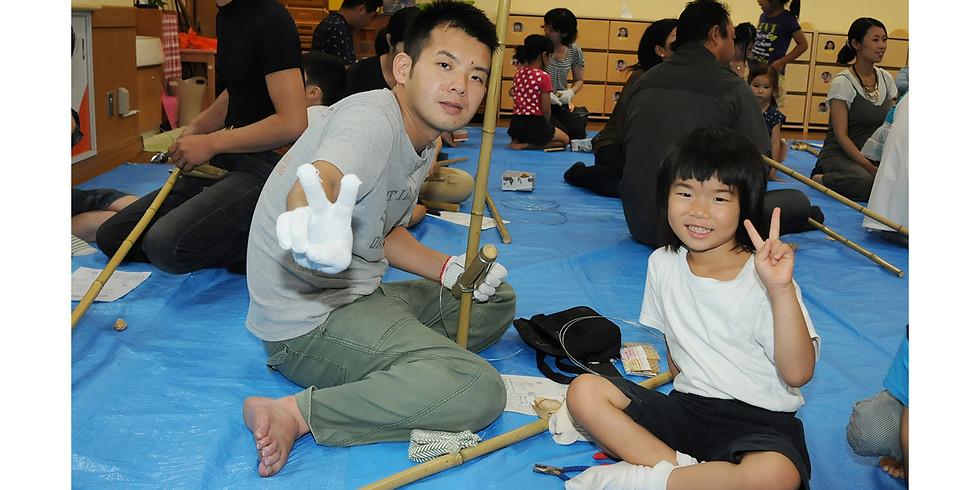 行事:竹馬作り(むさしヶ丘保育園の年長児対象)