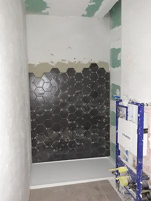 Chantier salle de bains moderne | douche à l'italienne