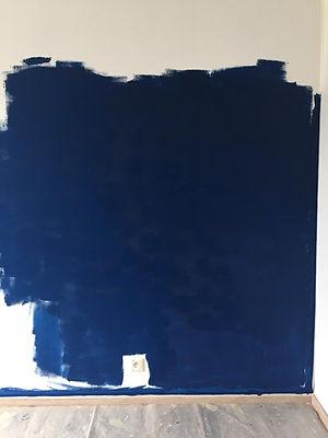 Décoration d'intérieur test de peinture