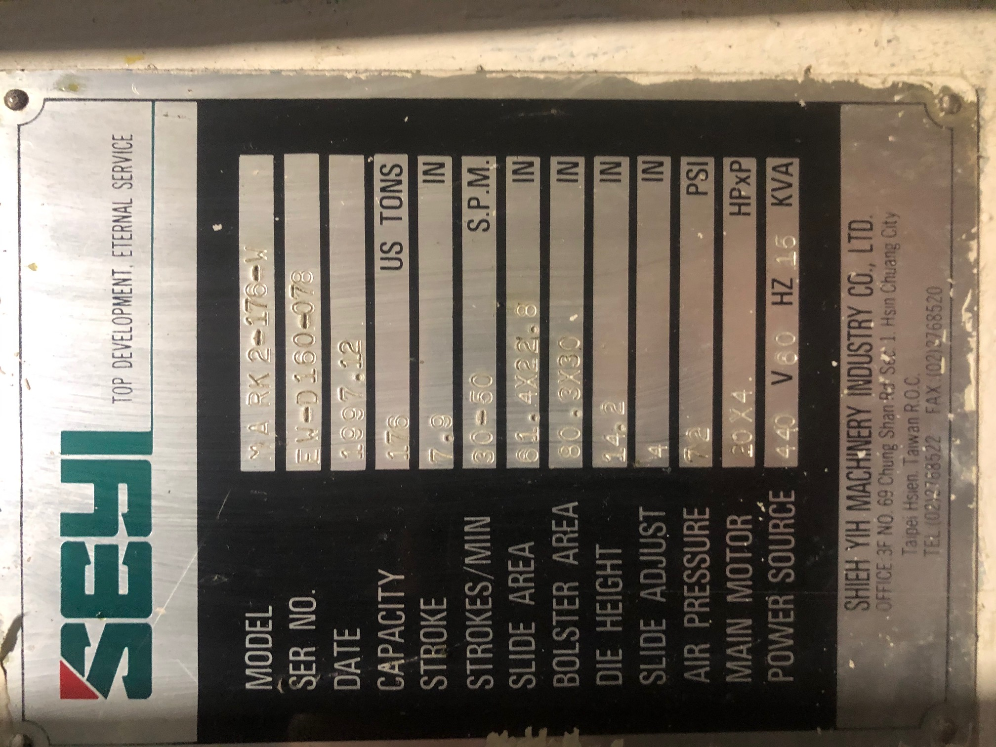 176 ton Seyi Sutherland data