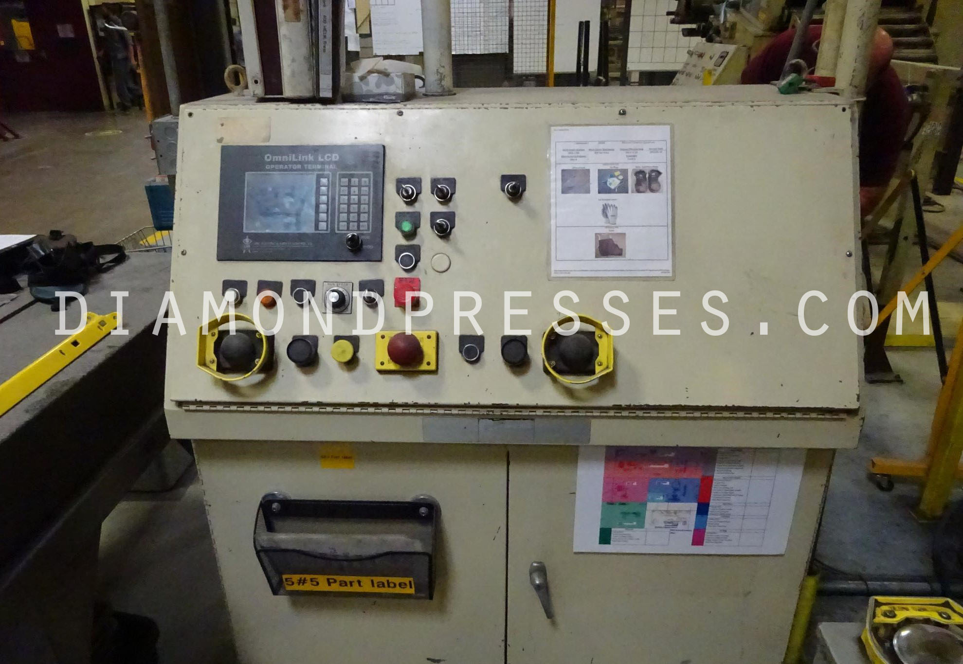 Heim 400 Ton Press For Sale Controls