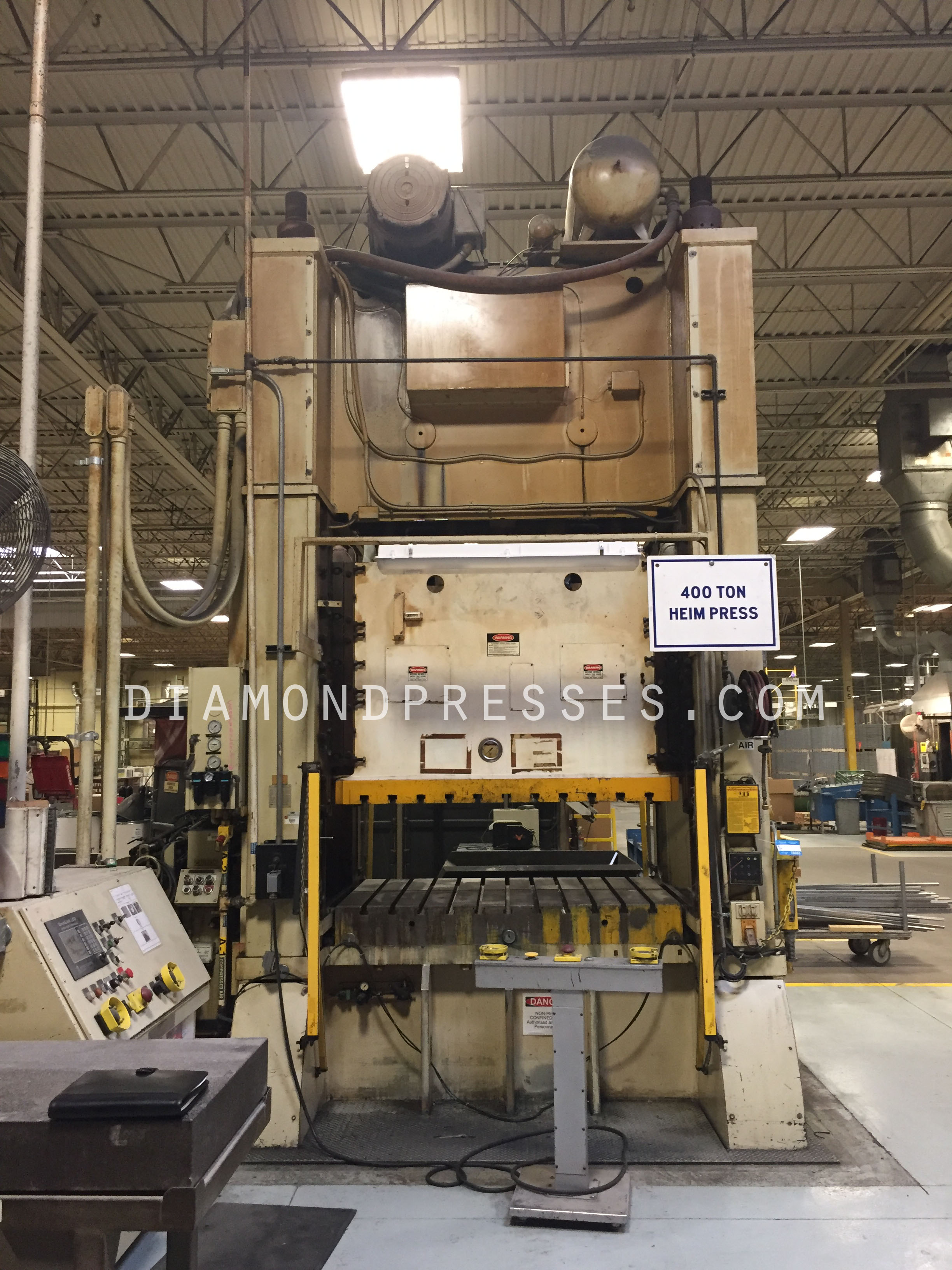 400 ton Heim Press For Sale Front