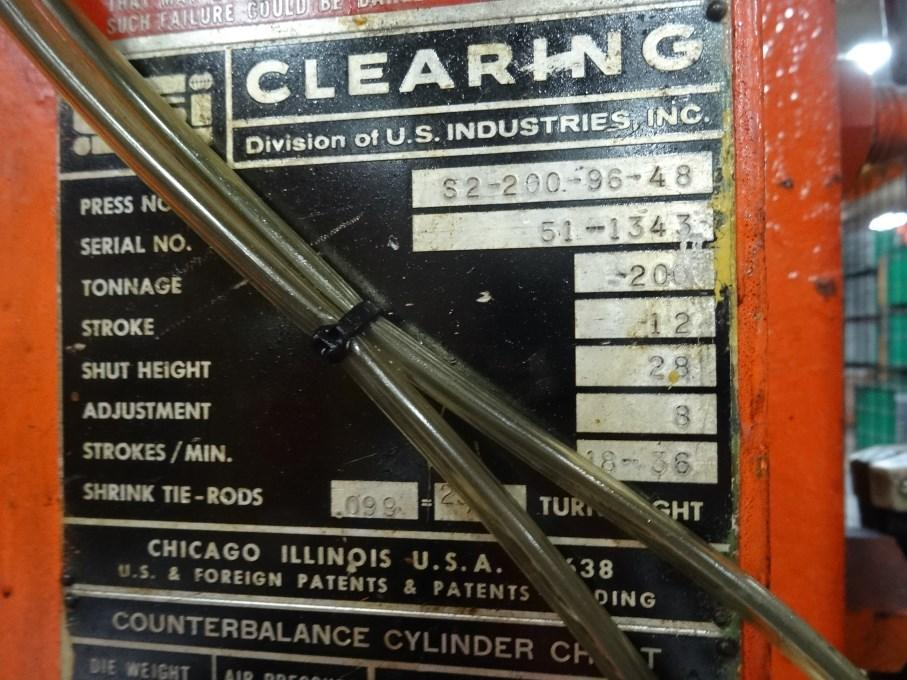 200 ton clearing data plate