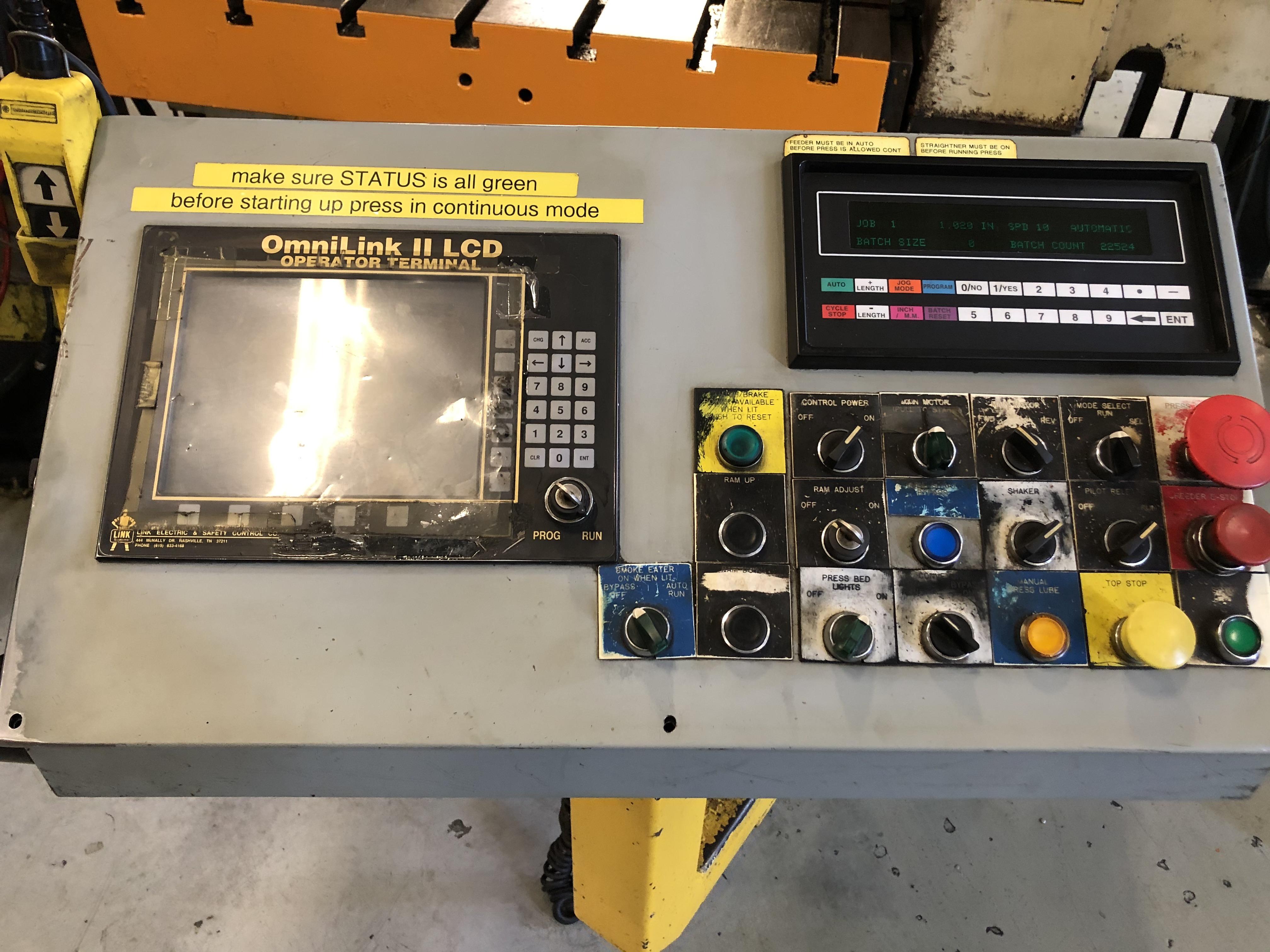 121 ton Aida controls