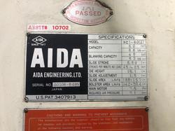 Aida NC1-60(2) data plate 2