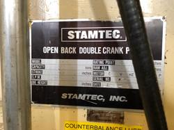 250 ton Stamtec data plate