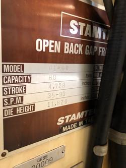 60 ton Stamtec GAP6