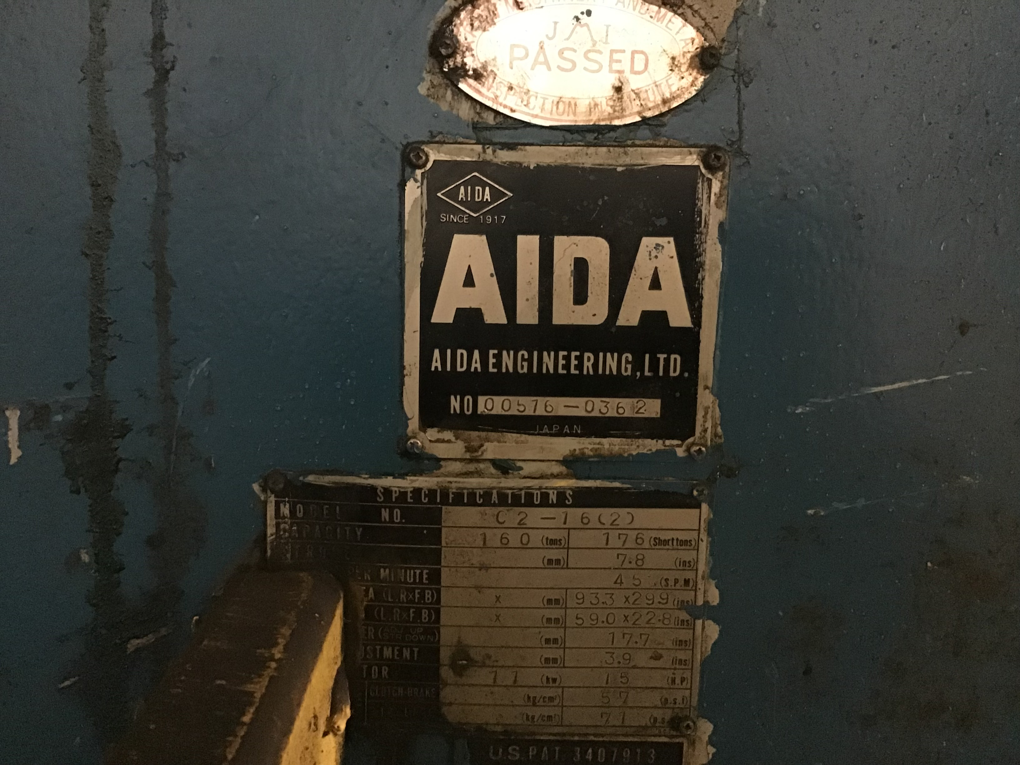 176 ton Aida data