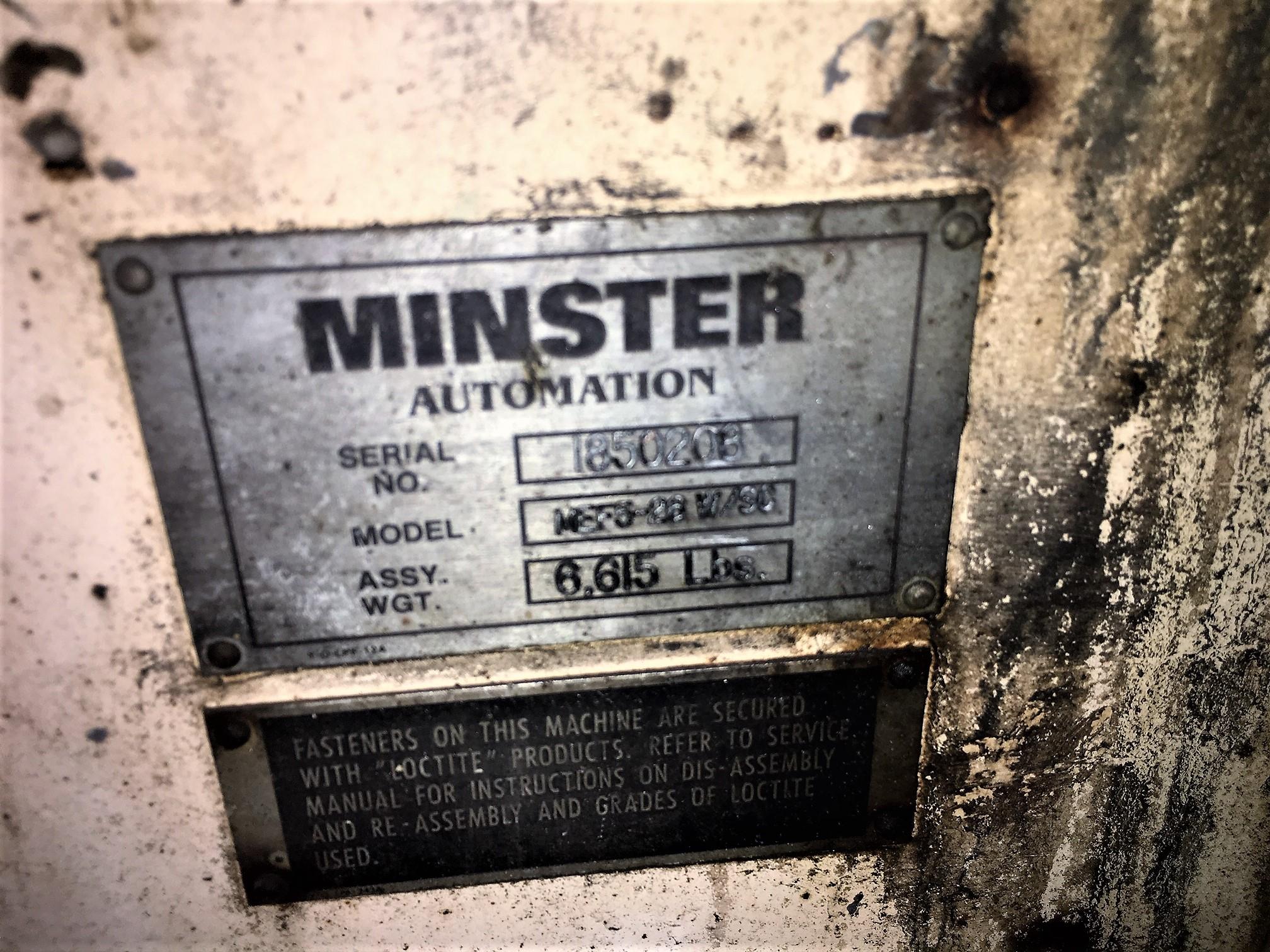 Minster Data plate