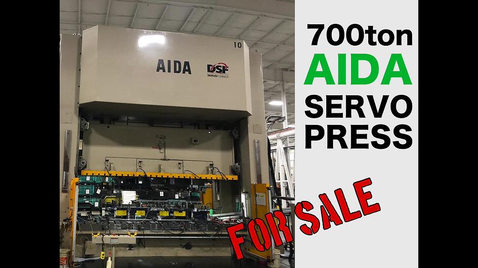 Brand new to the market is this 700 ton Aida servo press.