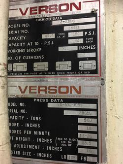 500 Ton Verson 5