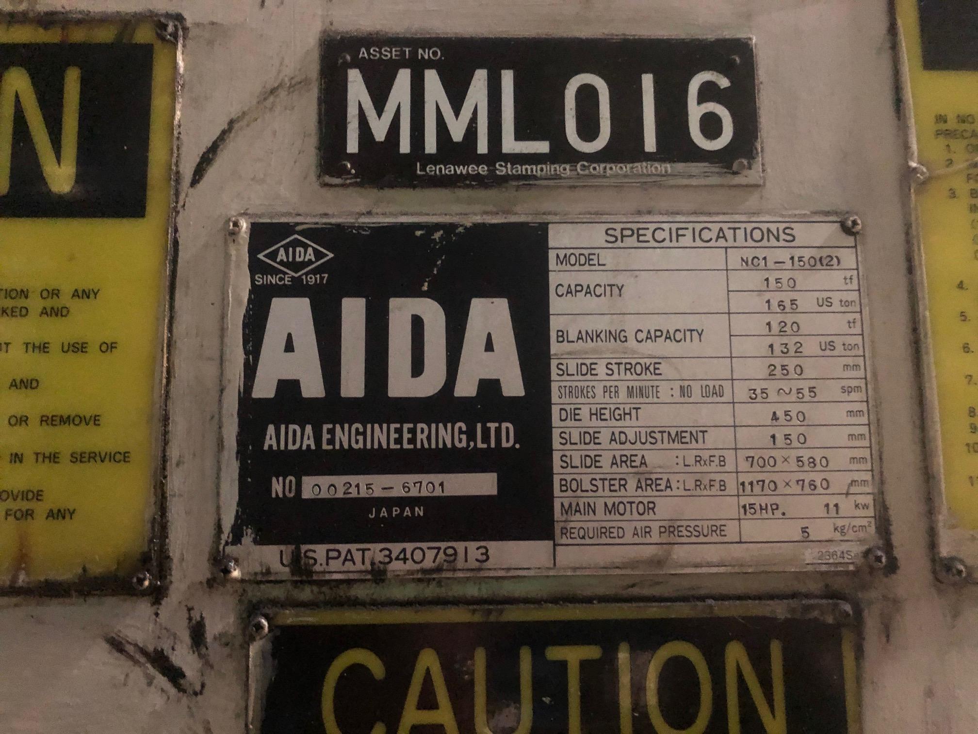 Aida NC1-150(2) data
