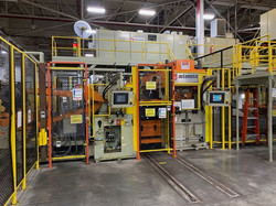 Automatic coil feed line