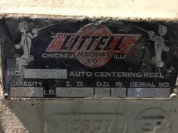Littell Coil Reel data plate