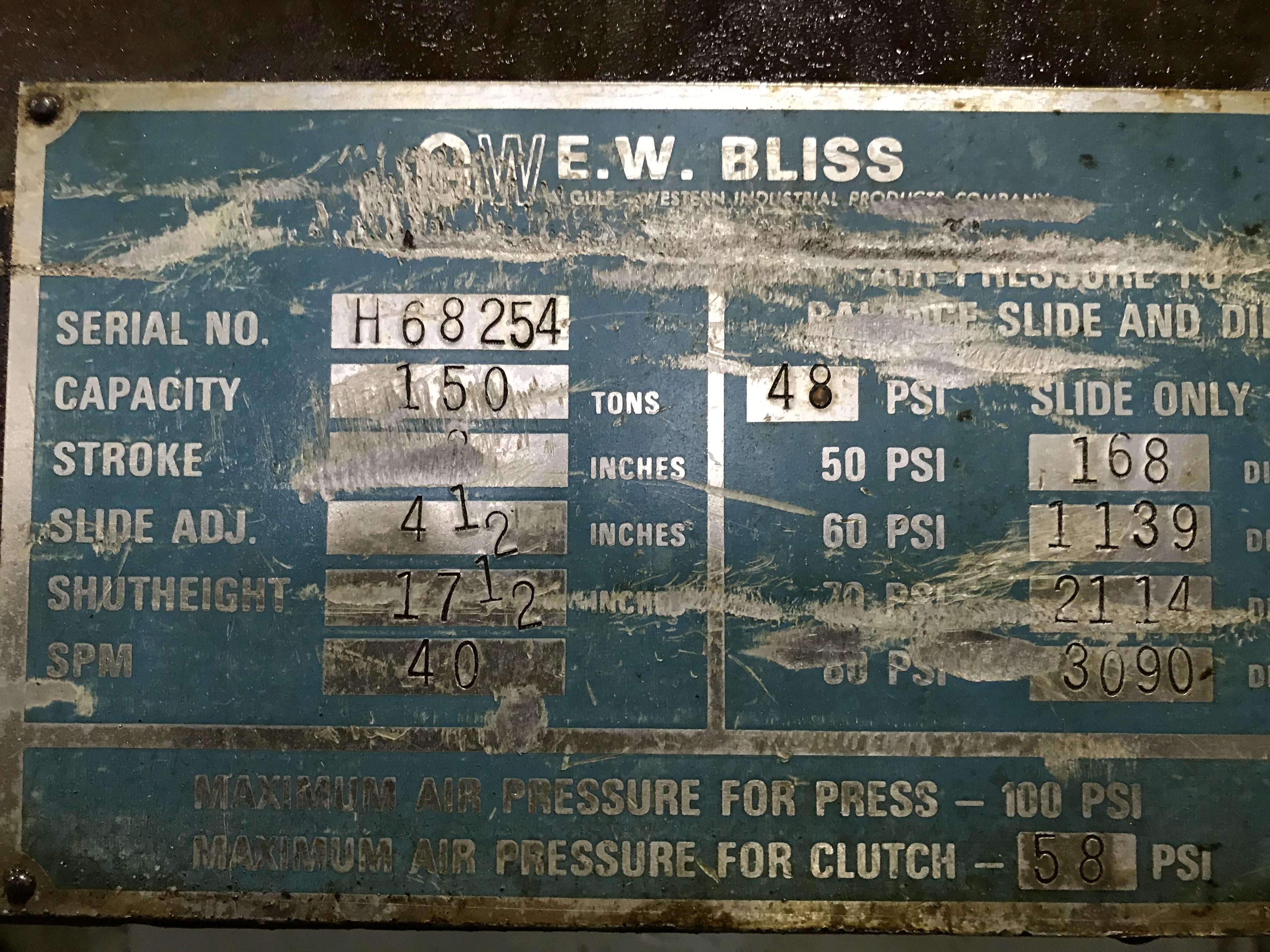 Bliss C-150 SN H68254 [DP1558] D