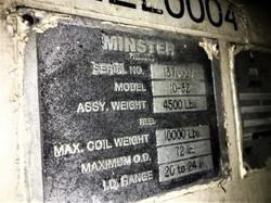 Minster Reel Data Plate
