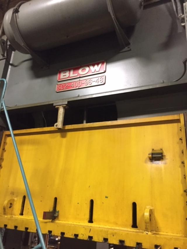 400 ton Blow ram