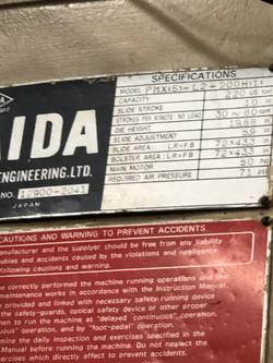 220 ton Aida PMX