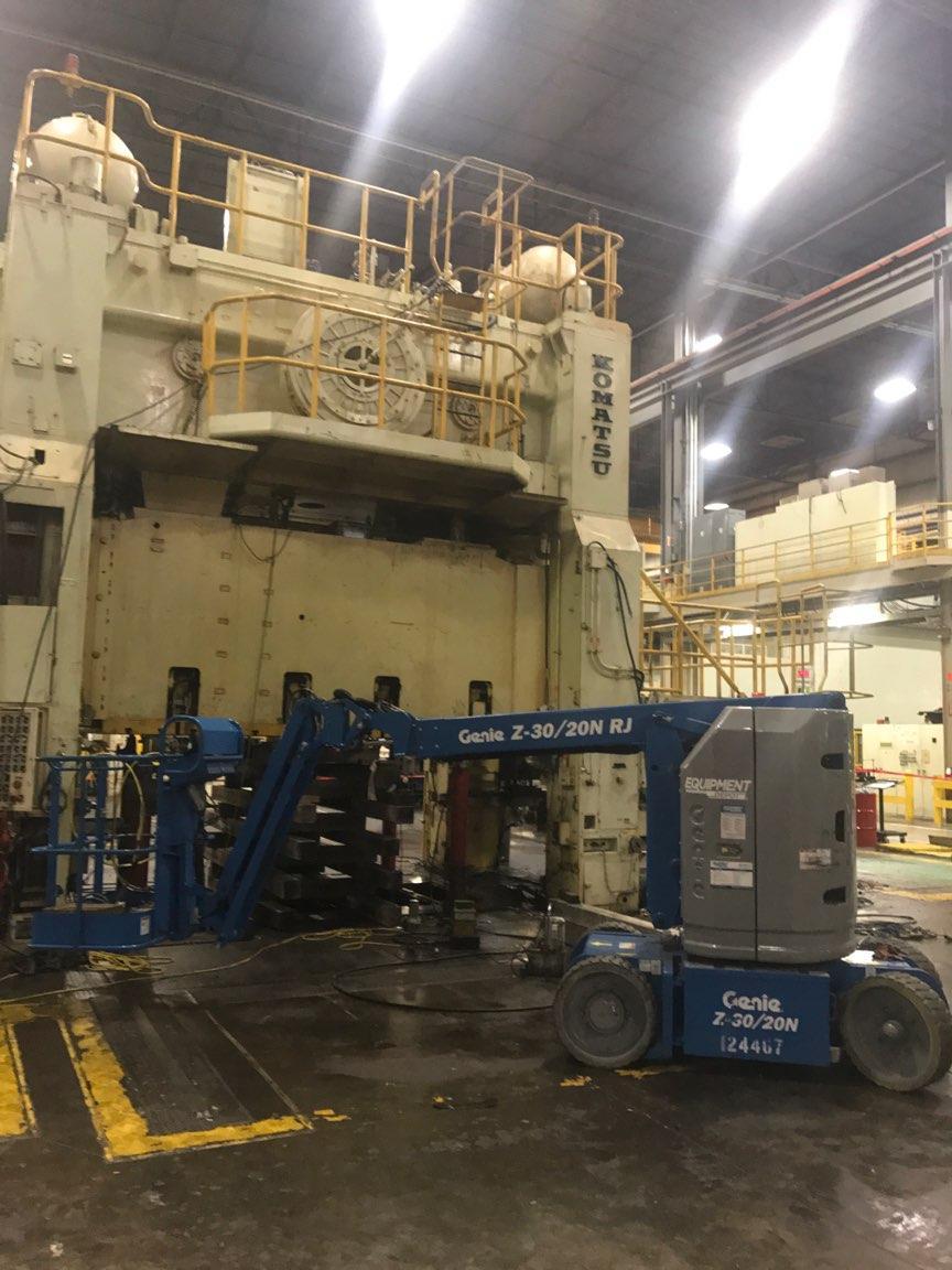 1100 ton Komatsu press